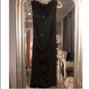 Zara Black Sequin Midi Dress Size M. NWT